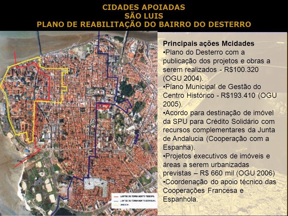 PLANO DE REABILITAÇÃO DO BAIRRO DO DESTERRO