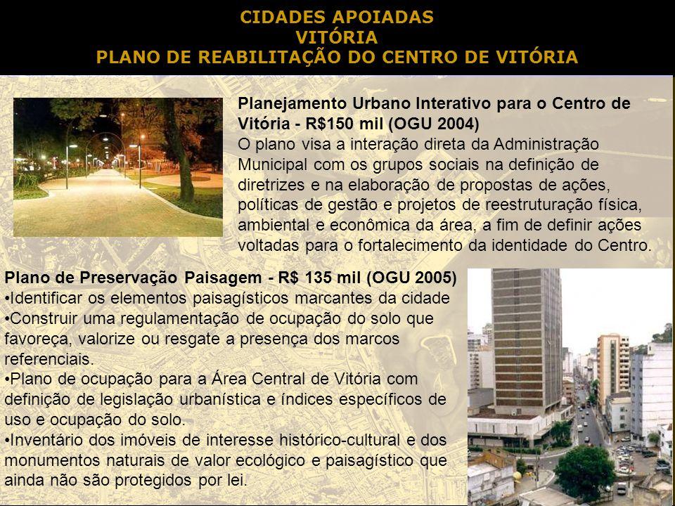 PLANO DE REABILITAÇÃO DO CENTRO DE VITÓRIA
