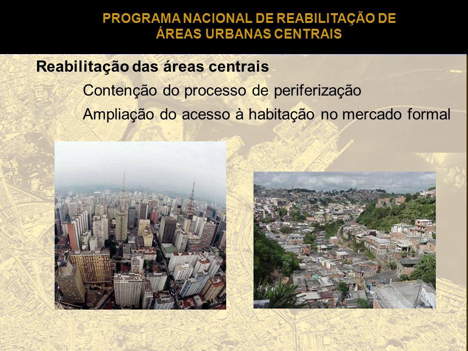 PROGRAMA NACIONAL DE REABILITAÇÃO DE ÁREAS URBANAS CENTRAIS