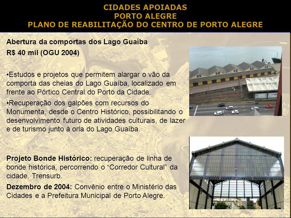 PLANO DE REABILITAÇÃO DO CENTRO DE PORTO ALEGRE