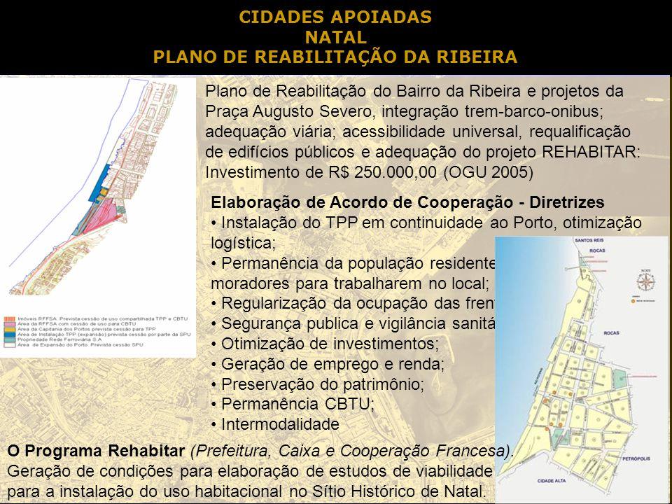 PLANO DE REABILITAÇÃO DA RIBEIRA