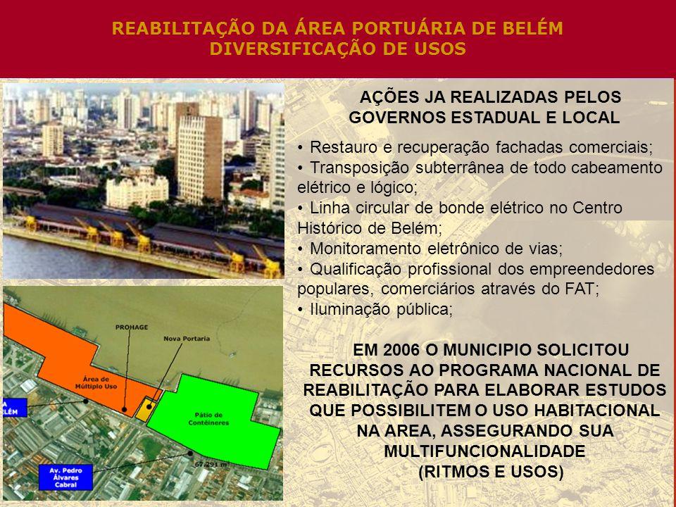 REABILITAÇÃO DA ÁREA PORTUÁRIA DE BELÉM DIVERSIFICAÇÃO DE USOS