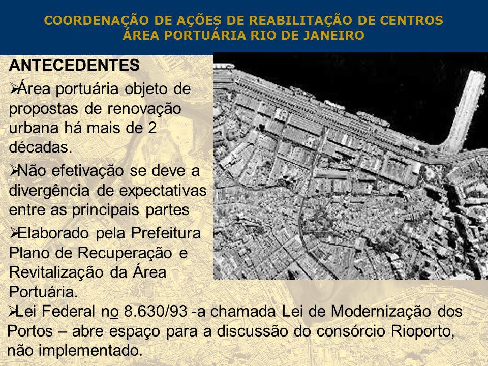 COORDENAÇÃO DE AÇÕES DE REABILITAÇÃO DE CENTROS ÁREA PORTUÁRIA RIO DE JANEIRO