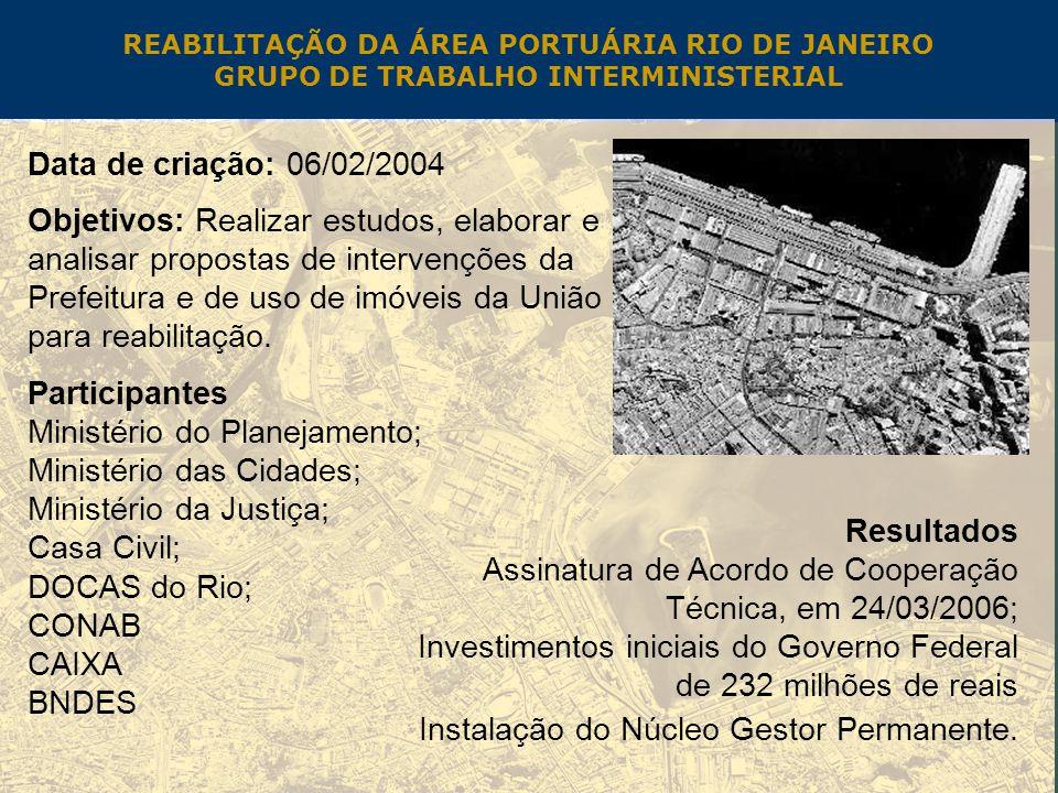 Ministério do Planejamento; Ministério das Cidades;