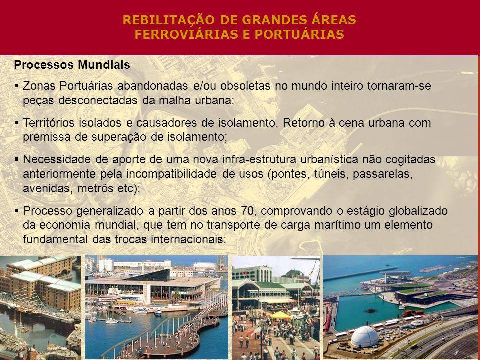 REBILITAÇÃO DE GRANDES ÁREAS FERROVIÁRIAS E PORTUÁRIAS