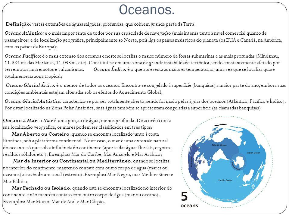 Oceanos.