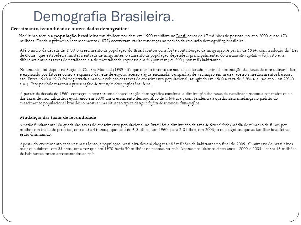 Demografia Brasileira.