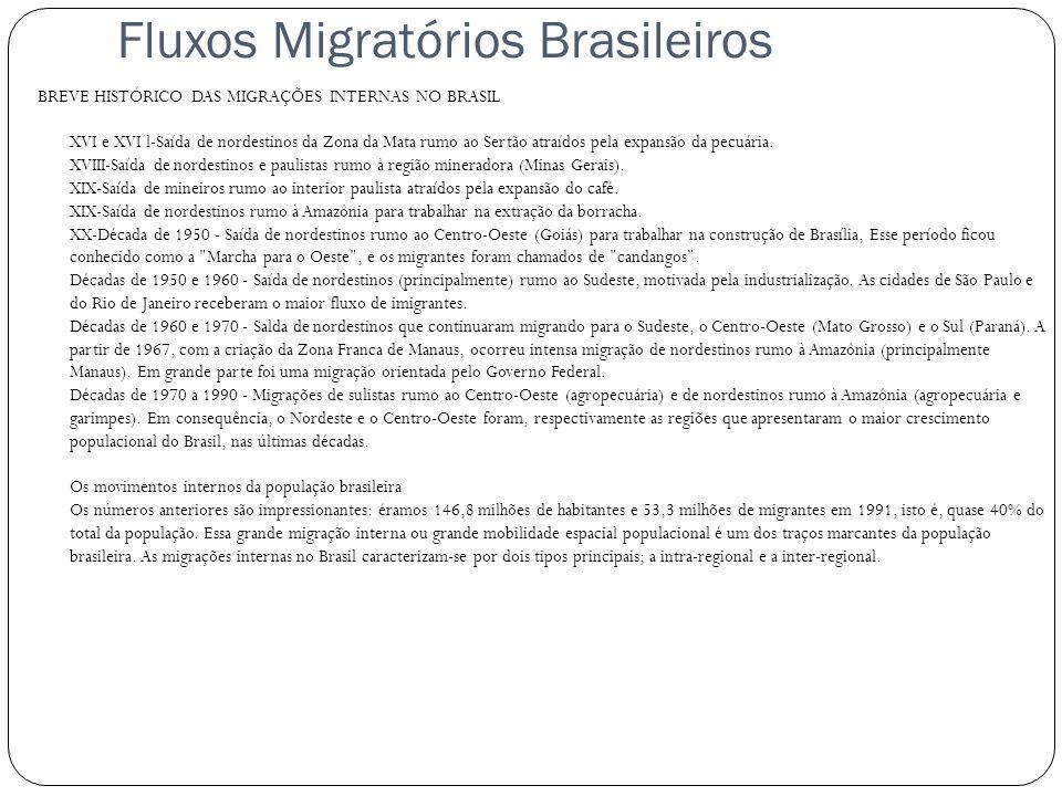 Fluxos Migratórios Brasileiros