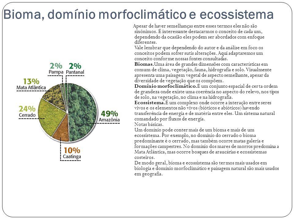 Bioma, domínio morfoclimático e ecossistema