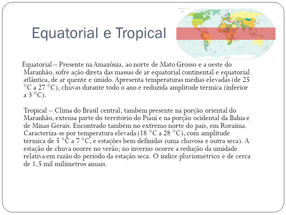 Equatorial e Tropical