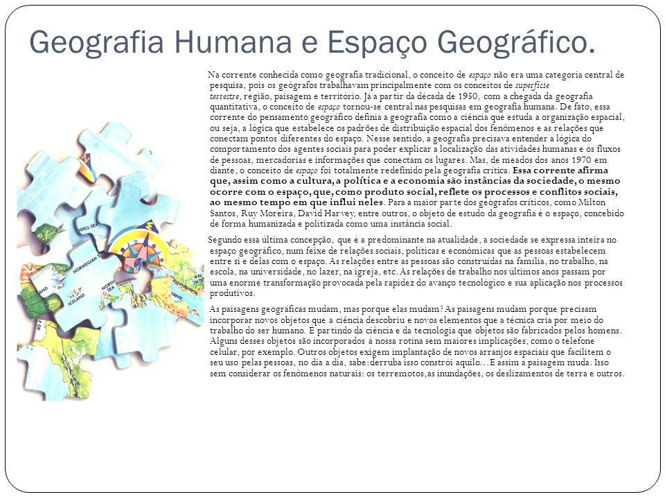 Geografia Humana e Espaço Geográfico.