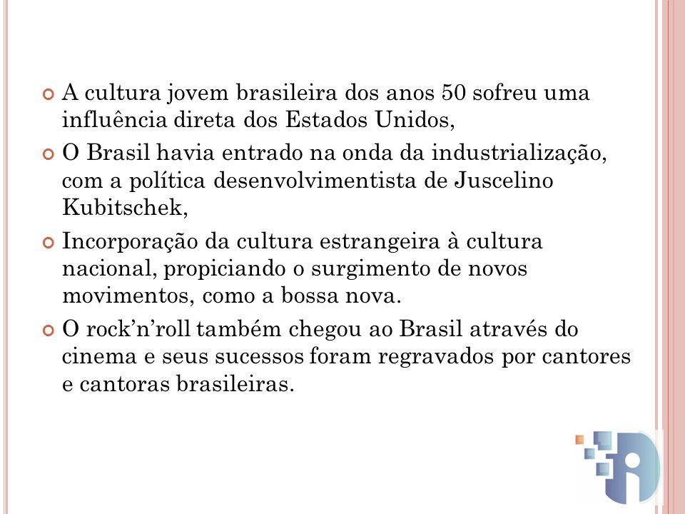 A cultura jovem brasileira dos anos 50 sofreu uma influência direta dos Estados Unidos,