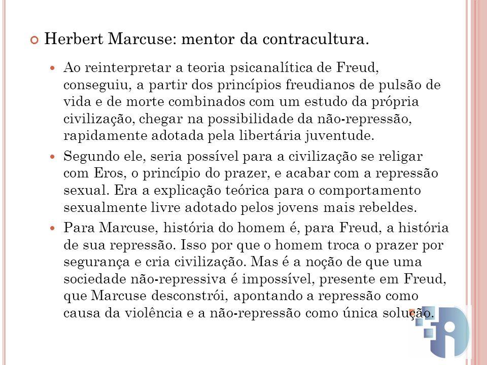 Herbert Marcuse: mentor da contracultura.