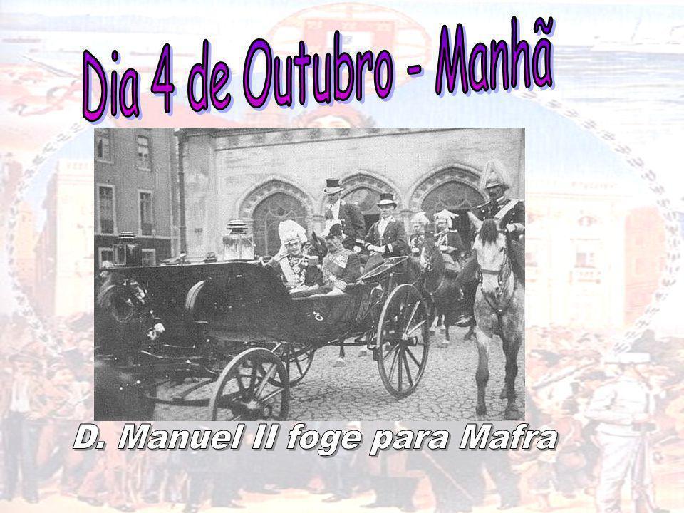 D. Manuel II foge para Mafra