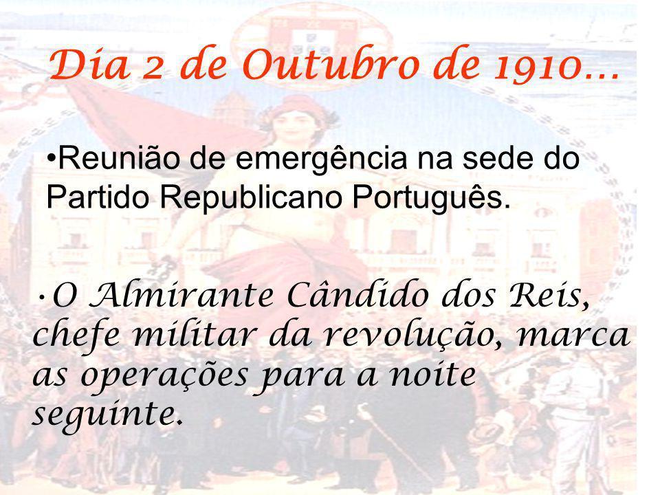 Dia 2 de Outubro de 1910… Reunião de emergência na sede do Partido Republicano Português.