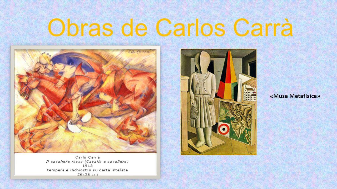 Obras de Carlos Carrà «Musa Metafísica»