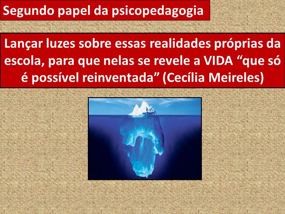 Segundo papel da psicopedagogia