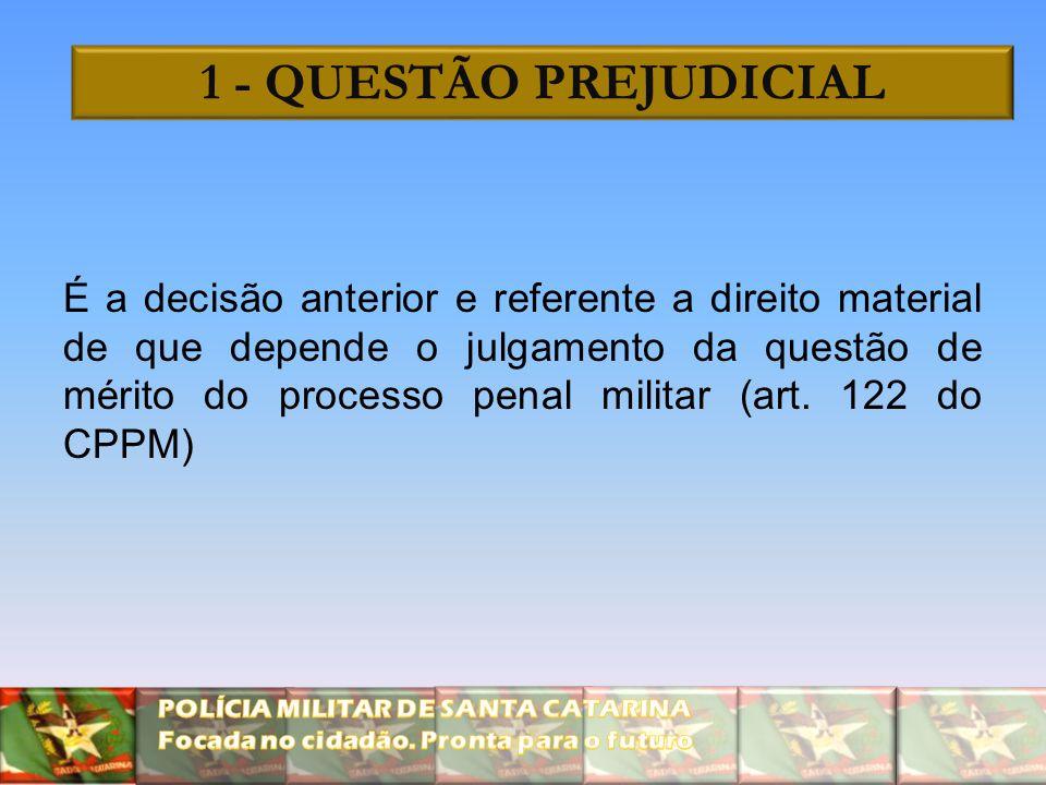 1 - QUESTÃO PREJUDICIAL