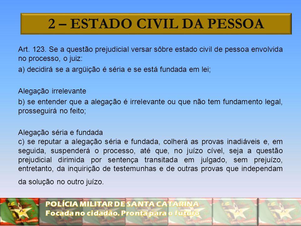2 – ESTADO CIVIL DA PESSOA