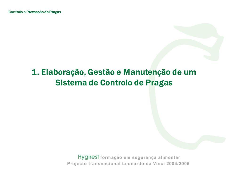 1. Elaboração, Gestão e Manutenção de um Sistema de Controlo de Pragas