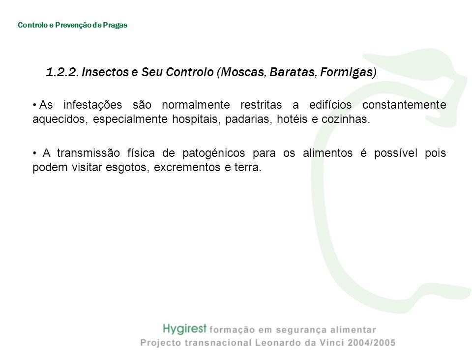 1.2.2. Insectos e Seu Controlo (Moscas, Baratas, Formigas)