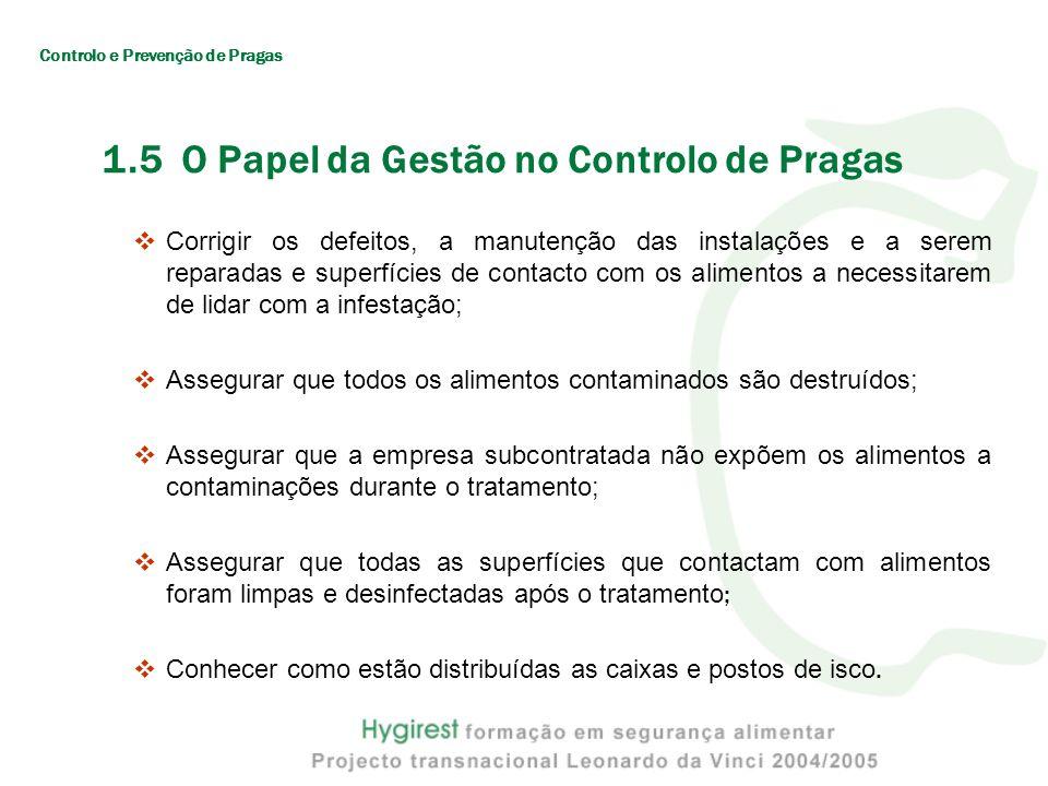 1.5 O Papel da Gestão no Controlo de Pragas