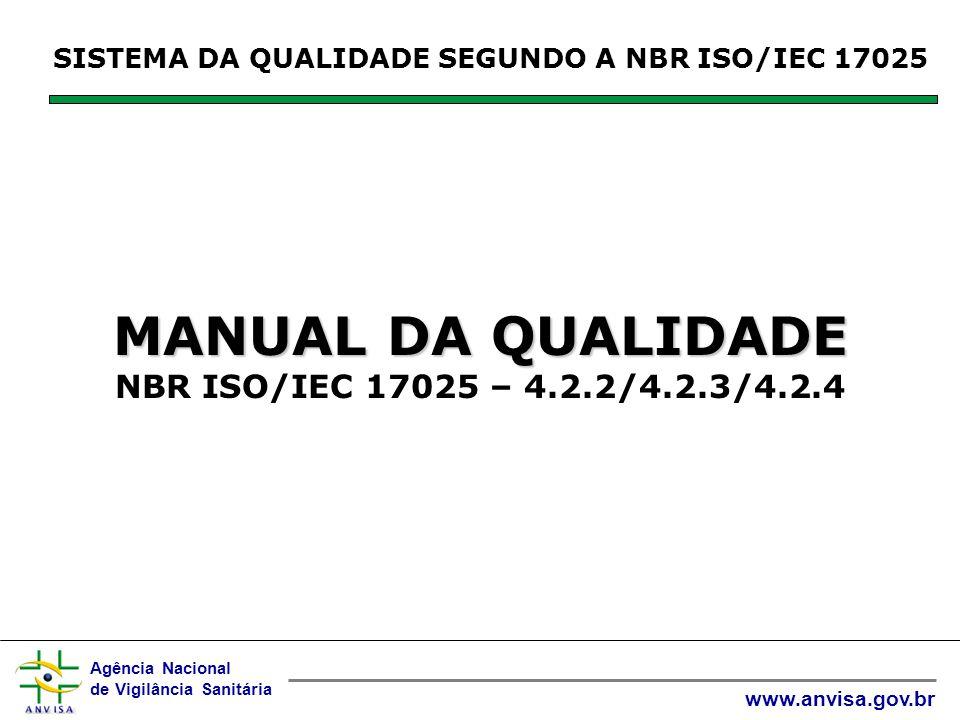 MANUAL DA QUALIDADE NBR ISO/IEC 17025 – 4.2.2/4.2.3/4.2.4