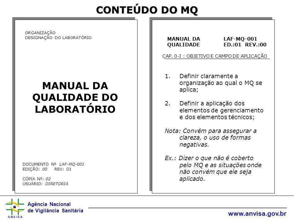 CAP. 0-I : OBJETIVO E CAMPO DE APLICAÇÃO