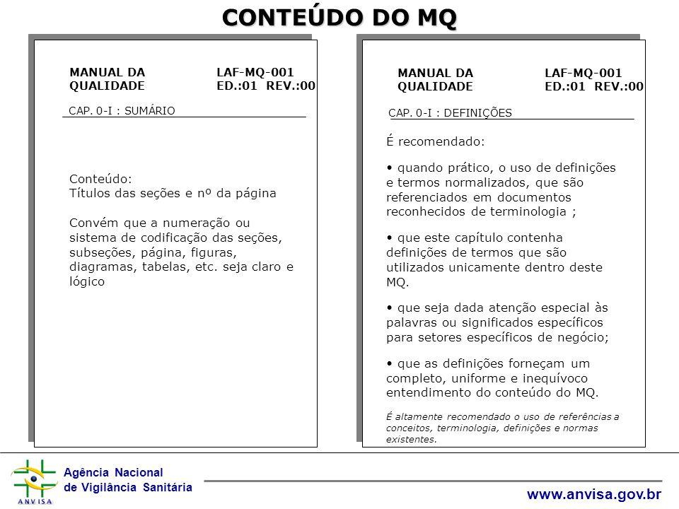 CONTEÚDO DO MQ É recomendado: