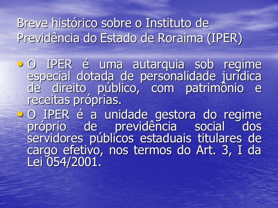 Breve histórico sobre o Instituto de Previdência do Estado de Roraima (IPER)