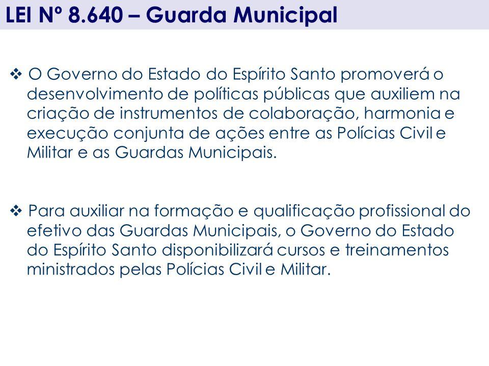 LEI Nº 8.640 – Guarda Municipal