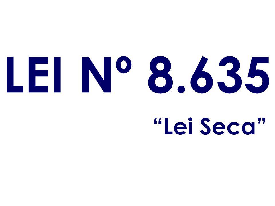 LEI Nº 8.635 Lei Seca