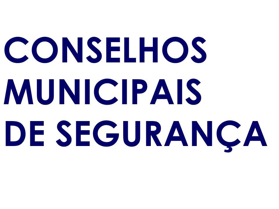 CONSELHOS MUNICIPAIS DE SEGURANÇA