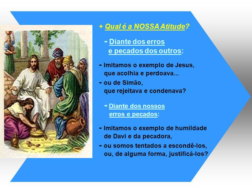 - Imitamos o exemplo de Jesus, - ou de Simão,