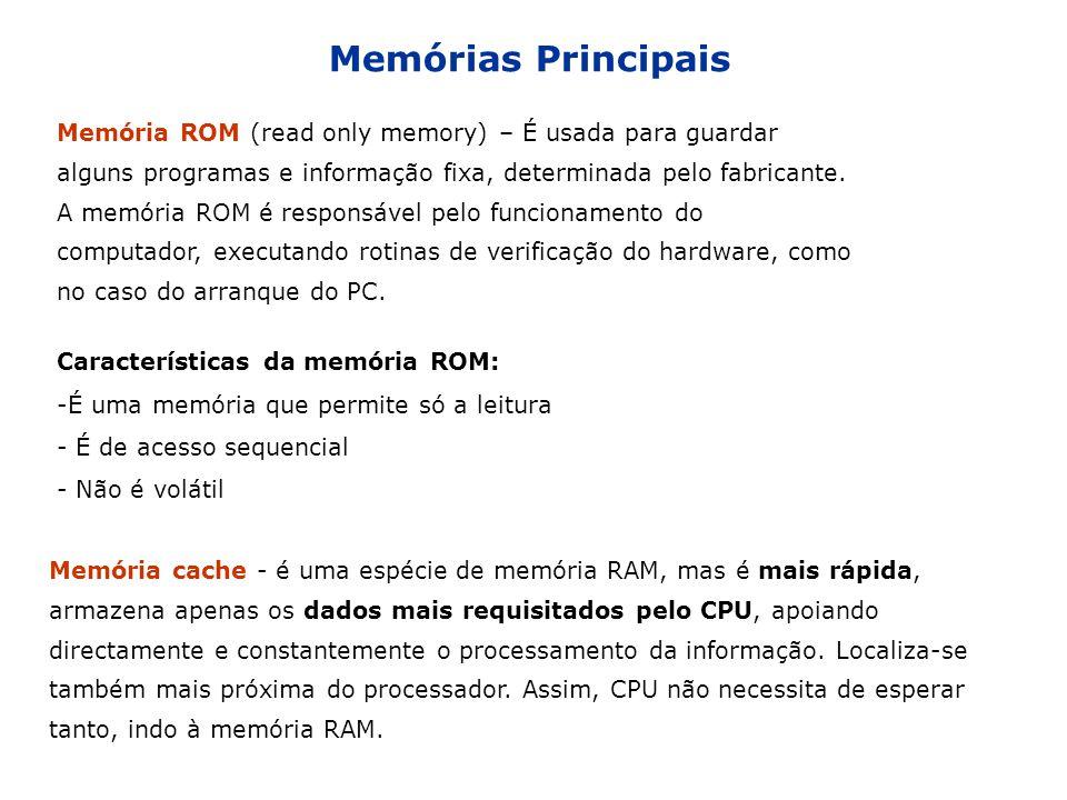 Memórias Principais