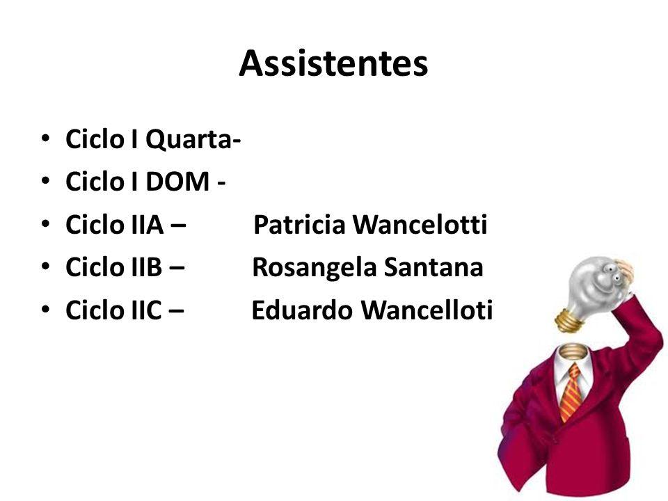 Assistentes Ciclo I Quarta- Ciclo I DOM -