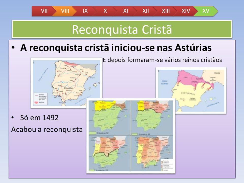 Reconquista Cristã A reconquista cristã iniciou-se nas Astúrias