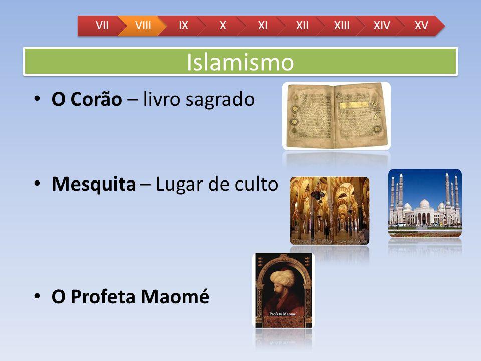 Islamismo O Corão – livro sagrado Mesquita – Lugar de culto
