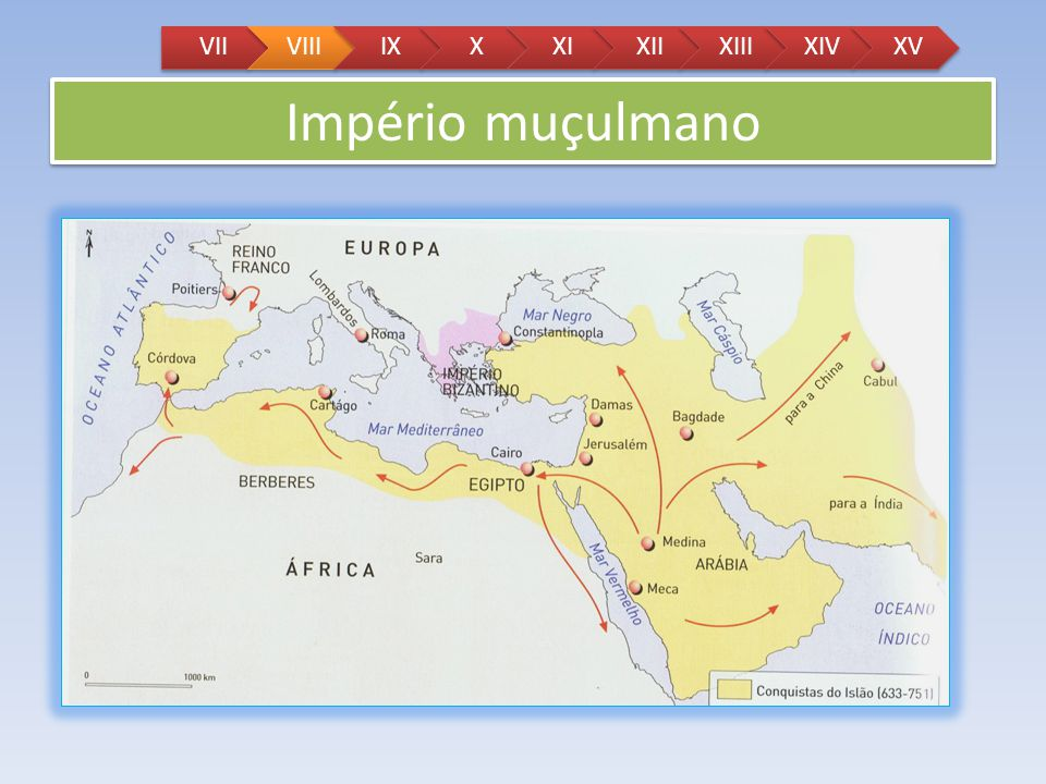 VII VIII IX X XI XII XIII XIV XV Império muçulmano