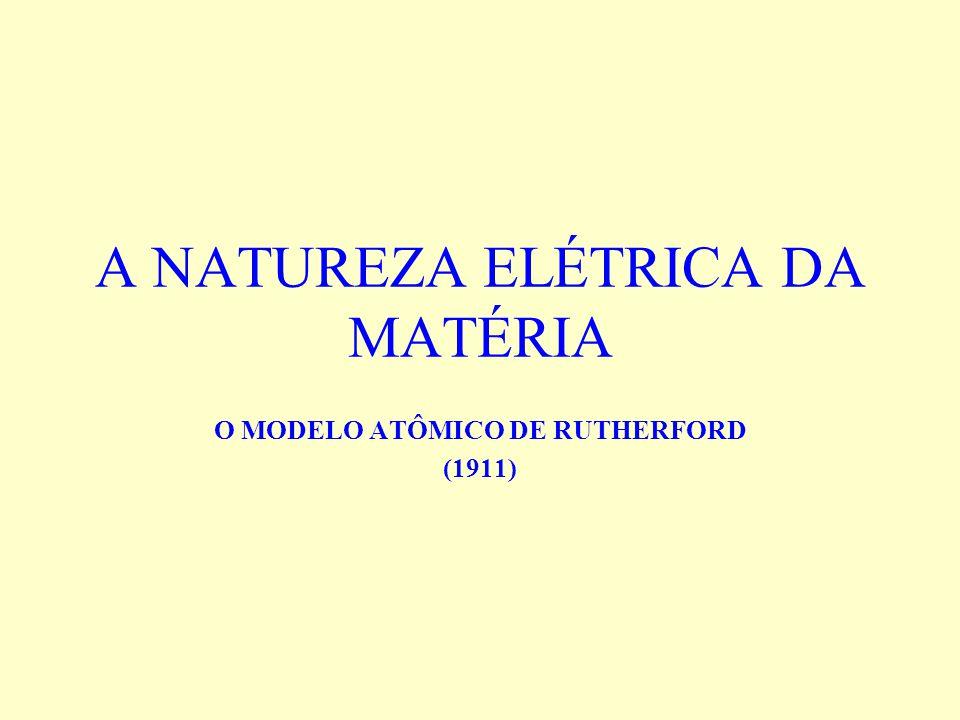 A NATUREZA ELÉTRICA DA MATÉRIA