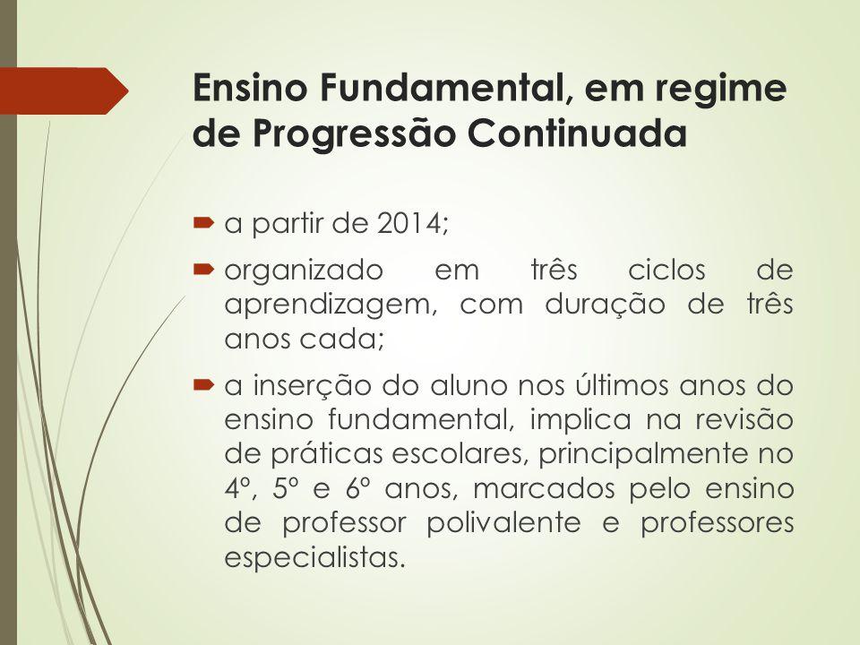 Ensino Fundamental, em regime de Progressão Continuada