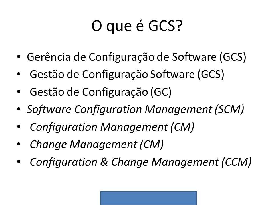 O que é GCS Gerência de Configuração de Software (GCS)