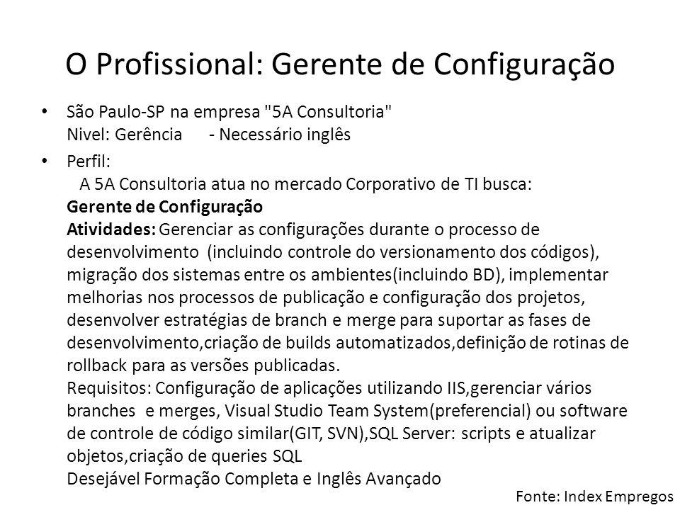 O Profissional: Gerente de Configuração
