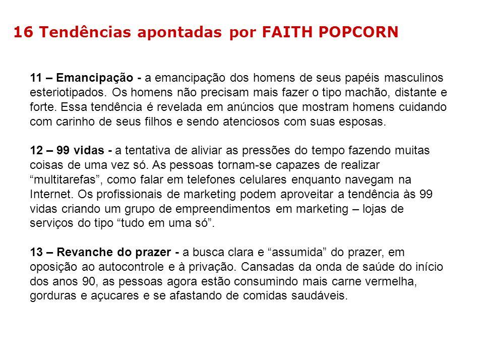 16 Tendências apontadas por FAITH POPCORN