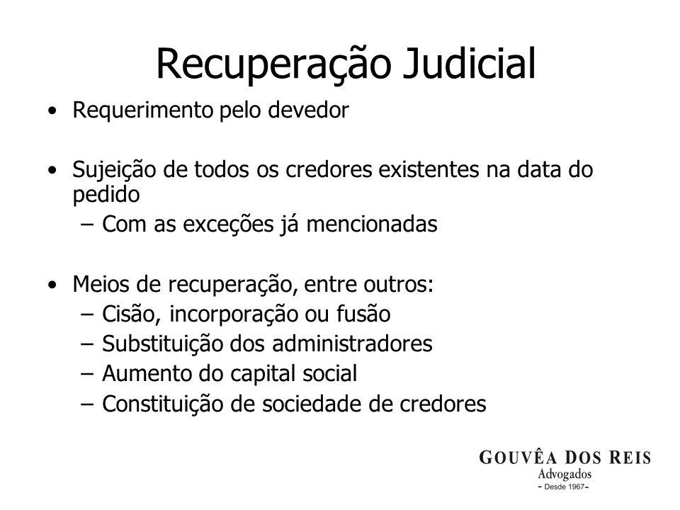 Recuperação Judicial Requerimento pelo devedor