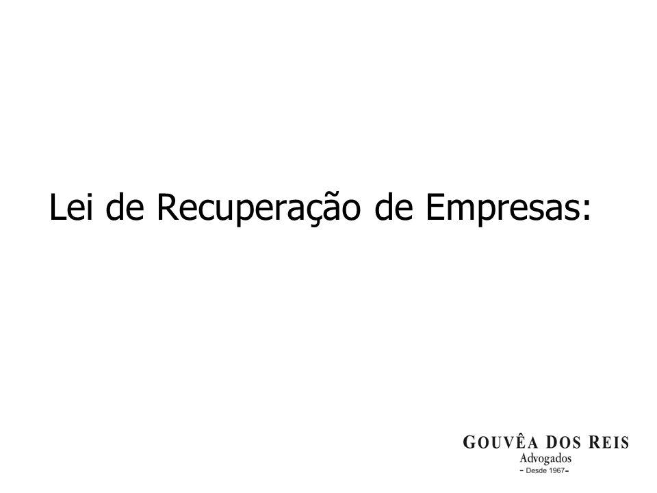 Lei de Recuperação de Empresas: