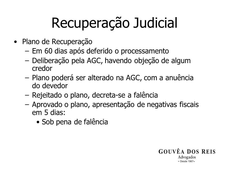 Recuperação Judicial Plano de Recuperação