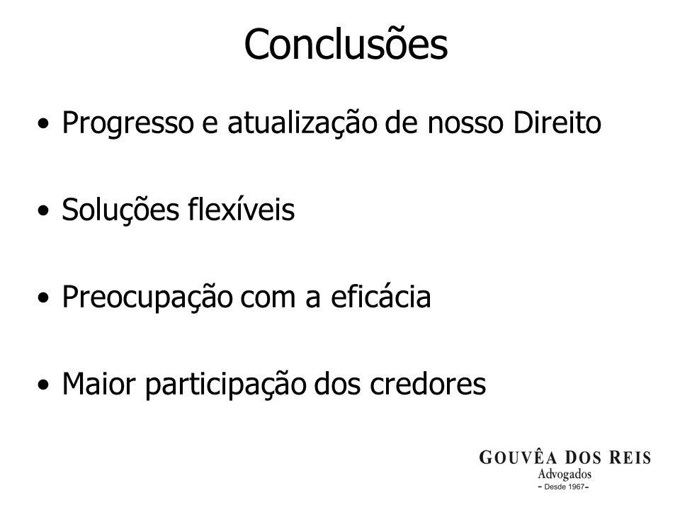 Conclusões Progresso e atualização de nosso Direito Soluções flexíveis