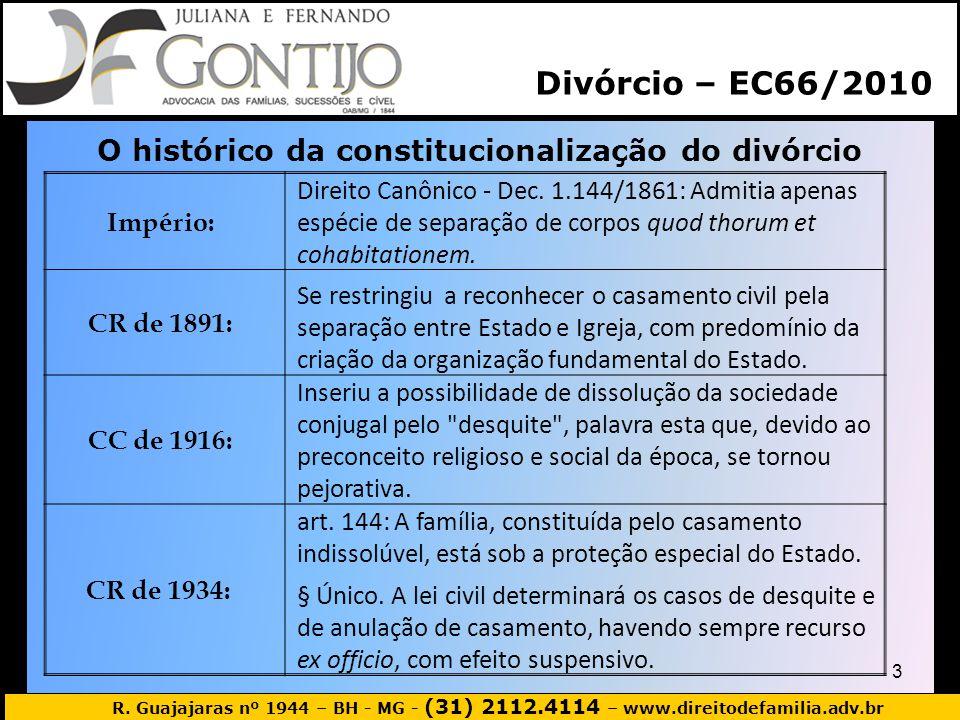O histórico da constitucionalização do divórcio