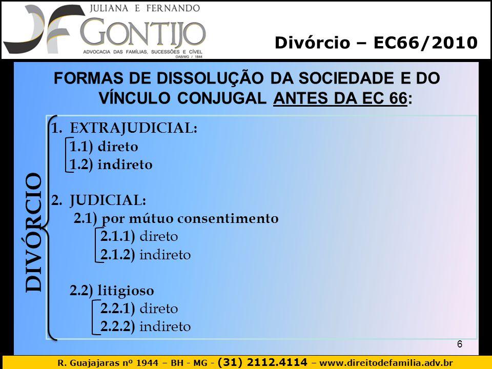 DIVÓRCIO Divórcio – EC66/2010